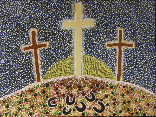 Three-Crosses_Anangu-artist-Yvonne-Edwards_full-painting