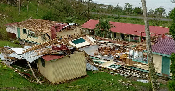 Destruction caused by Cyclone Winston in Tailevu North district, Fiji (CREDIT: Caritas via Flickr)
