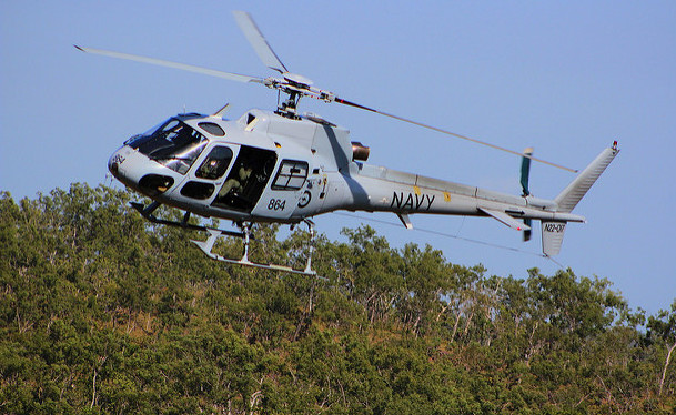 An AS350BA Squirrel helicopter from 723 Squadron (CREDIT: Royal Australian Navy)